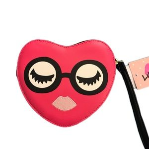 Betsey Johnson Heart purse wristlet